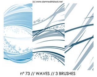 PHOTOSHOP BRUSHES : waves by darkmercy