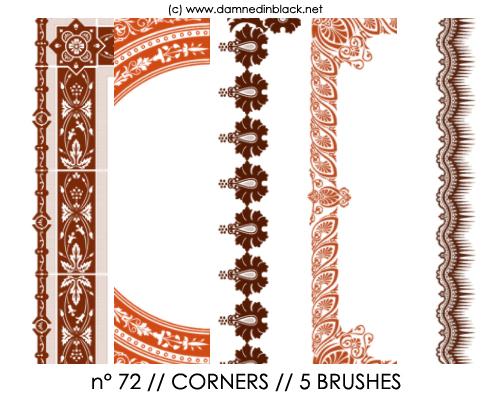PHOTOSHOP BRUSHES : corners