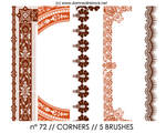 PHOTOSHOP BRUSHES : corners