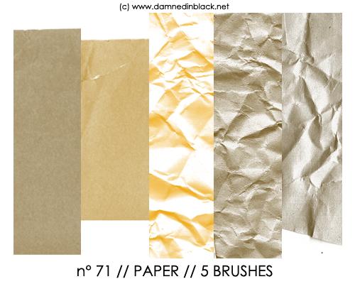 PHOTOSHOP BRUSHES : paper by darkmercy