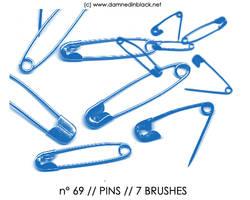 PHOTOSHOP BRUSHES : pins by darkmercy