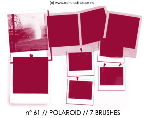PHOTOSHOP BRUSHES : polaroid