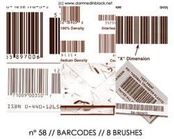 PHOTOSHOP BRUSHES : barcodes by darkmercy