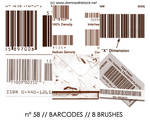 PHOTOSHOP BRUSHES : barcodes