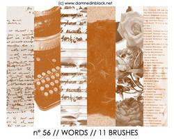 PHOTOSHOP BRUSHES : words by darkmercy