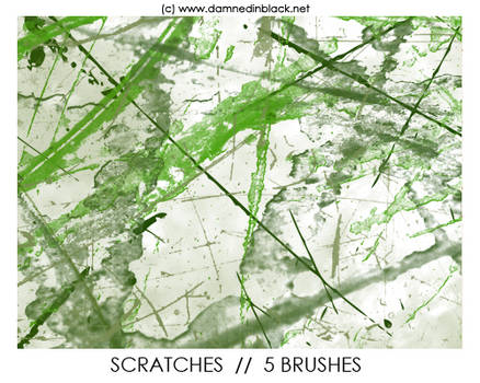 PHOTOSHOP BRUSHES : scratches