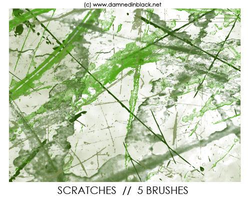 PHOTOSHOP BRUSHES : scratches by darkmercy