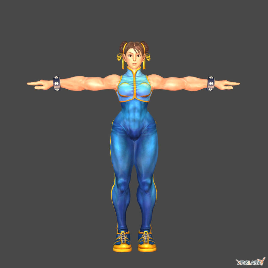 Chun Li alpha mod for XNALara by KSE25