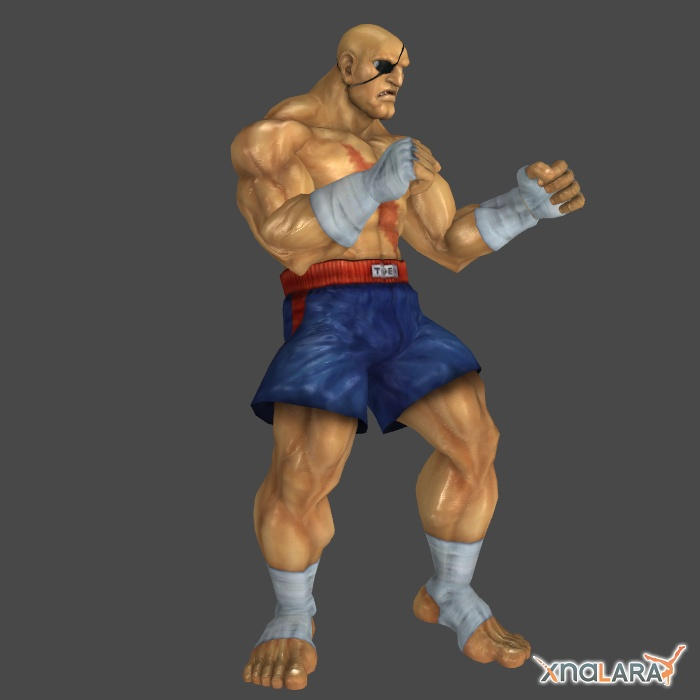 Sagat 1p outfit for XNALara by KSE25