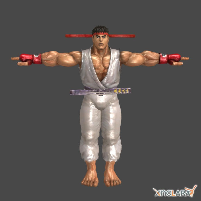 Ryu 1p outfit for XNALara by KSE25