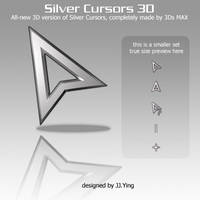 Silver_Cursors_3D by JJ-Ying