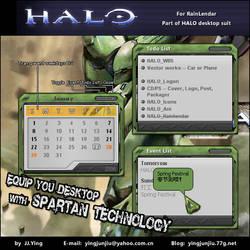 HALO Rainlendar by JJ-Ying