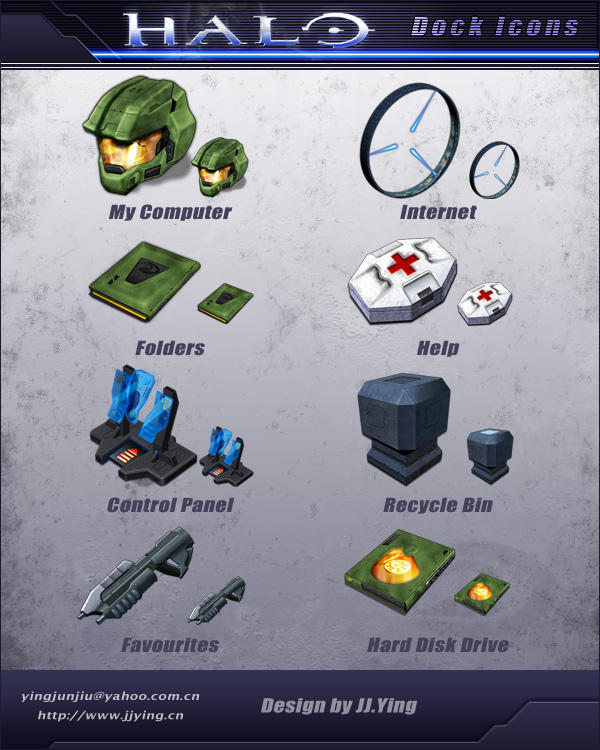 HALO Dock Icons