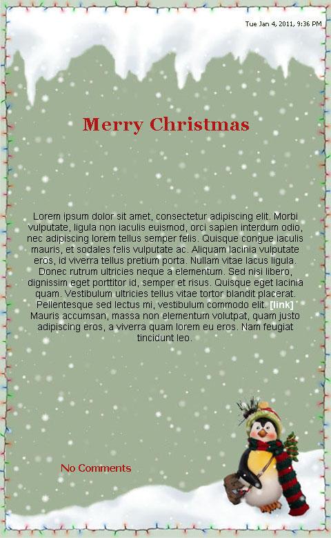 Christmas Skin by 4u64ica
