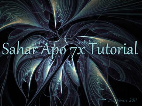 Sahar Tutorial for Apo 7X