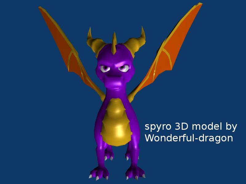 Spyro 3D model downloadable version by Wonderful-dragons