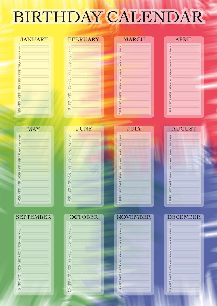 Virtual Calendar Wallpaper : Birthday calender new calendar template site