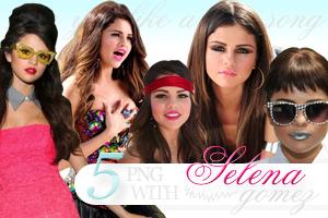 Selena Gomez PNG pack by celestesd