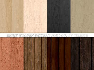 8 wooden patterns