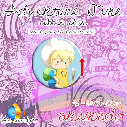 Adventure Time Bubble  xwidget skin by NiallsWife