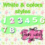 White And Colors Styles