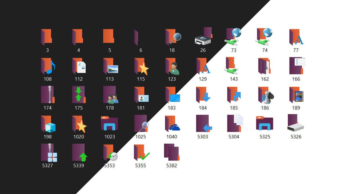Win10 Natural iPacks: Ubuntu Aubergine