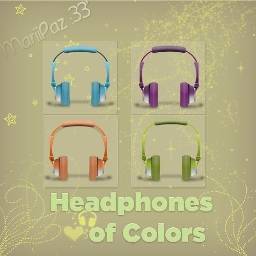 Headphones of colors (iconos) by MariiPaz