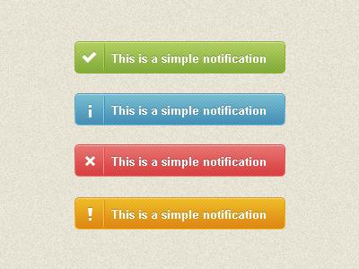 notification bar - 4 colours