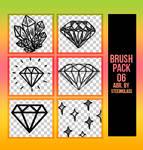 diamond brushes x 06