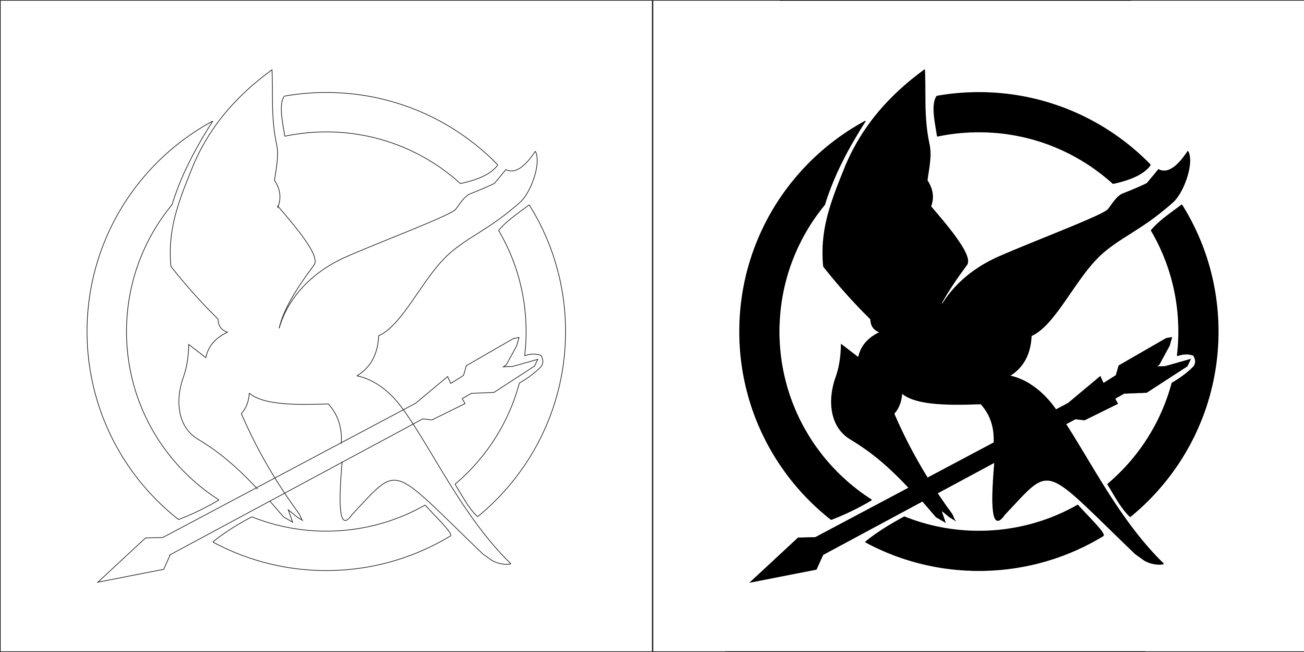 Mockingjay Logo Black And White The Hunger Games by Si...
