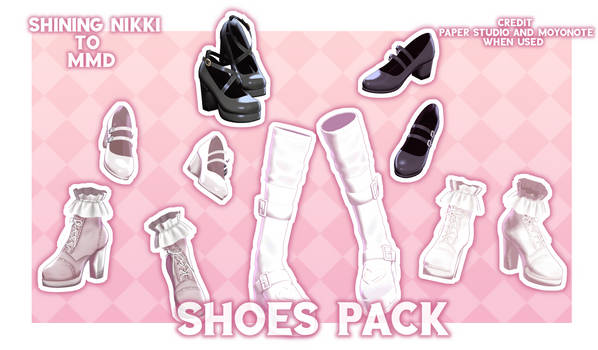 [MMD-Shining Nikki] Shoes Pack + Download