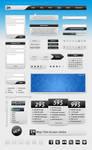 Web Interface Elements - Black