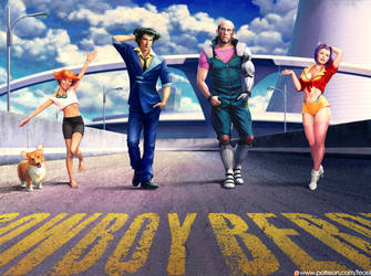Cowboy bebop crew/ All together. GIF by Feael