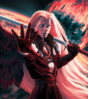 Sephiroth. One winged angel. GIF by Feael
