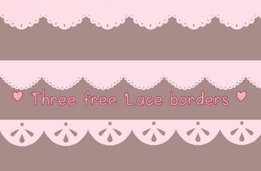 Three free Lace borders by Luumies