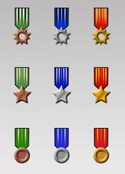 dAward Medals Pack by xSPYROTHEDRAGONx