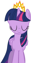Princess Twilight looking rather solemn/sad by xenoneal
