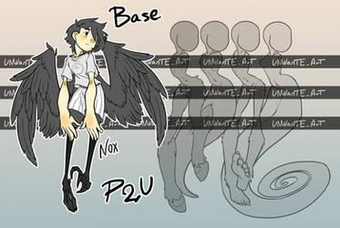(P2U) Base - Anthro type by UNWanTED-ArT