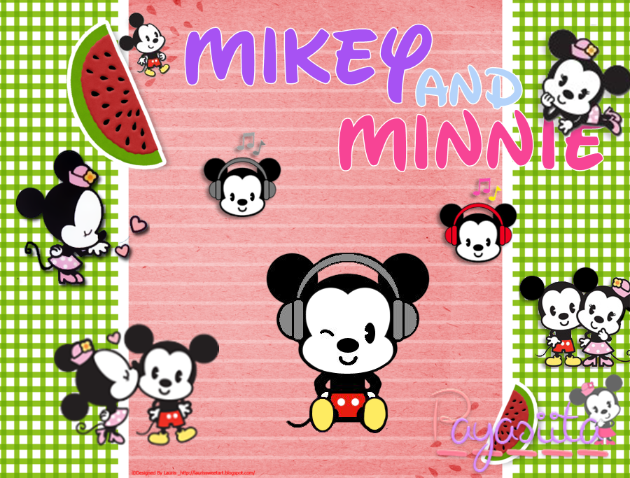 Mikey and Minnie PNG by Payasiita
