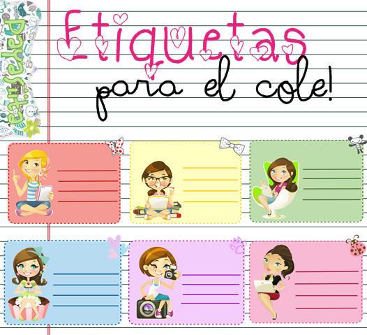 Etiquetas para el cole! by Payasiita