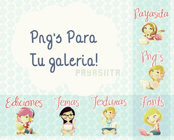 Png's para tu galeria! by Payasiita