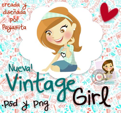 PSD. Vintage Girl by Payasiita