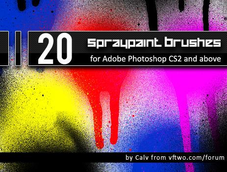 "20 ""Spraypaint"" Brushes by CalvinSteward"