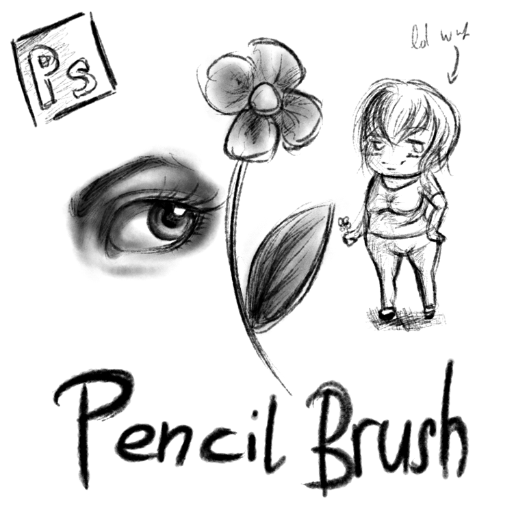 Download: Pencil Brushes for Photoshop by KristinaWaldt on