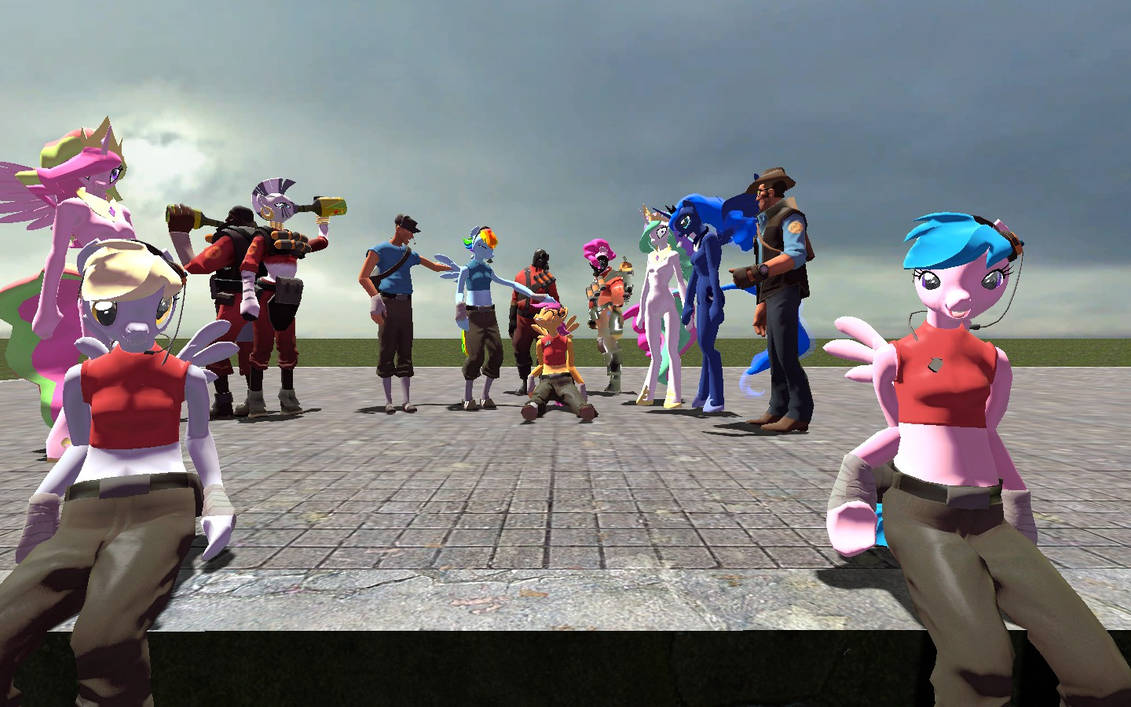 Kassgrein's TF2 Pony Models Hexed for Gmod by Sarcastic-Brony on