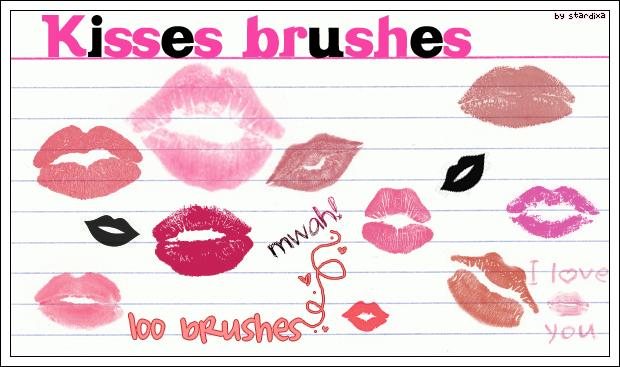 Kisses brushes by stardixa