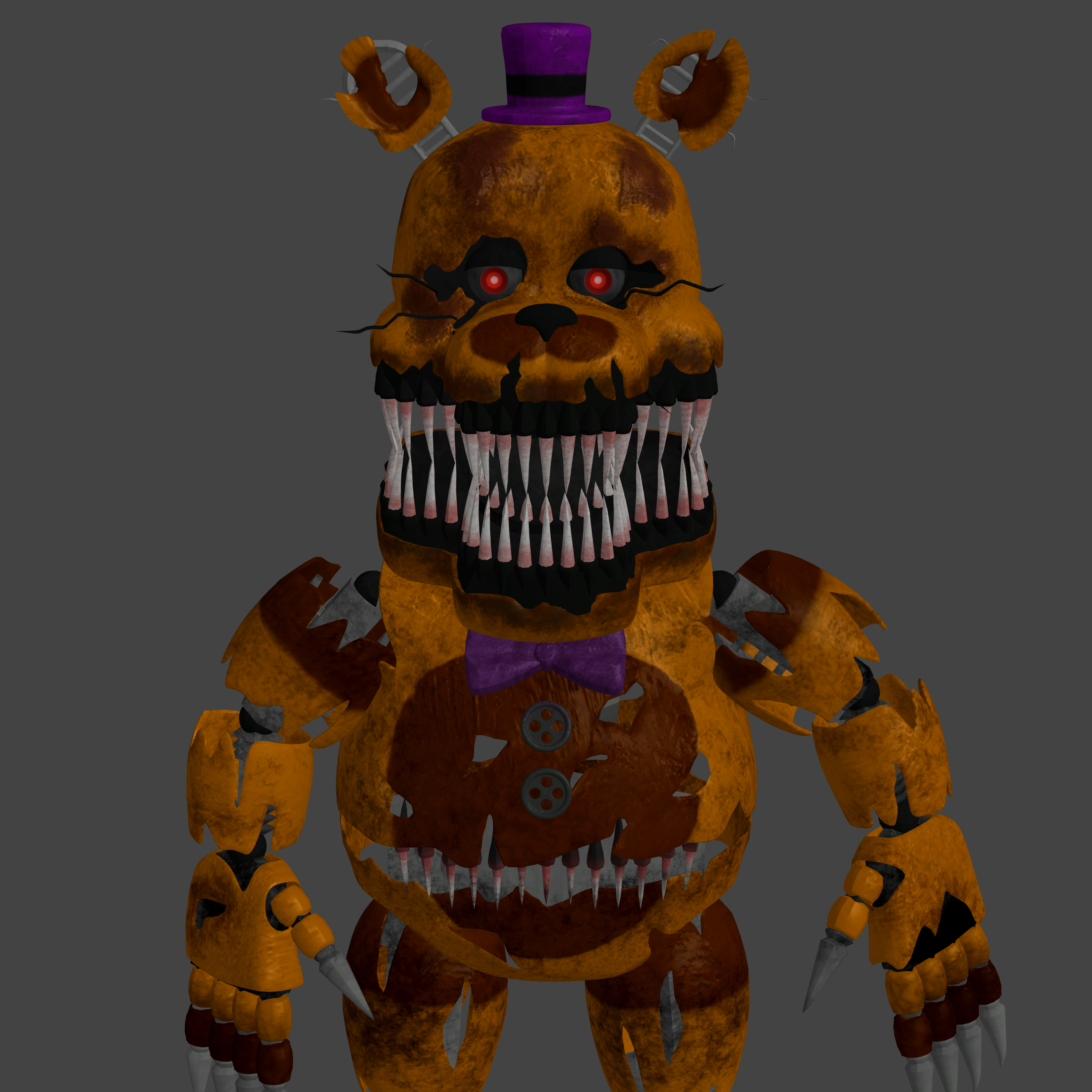Nightmare Fredbear FNAF4 By RealMoonlight On DeviantArt