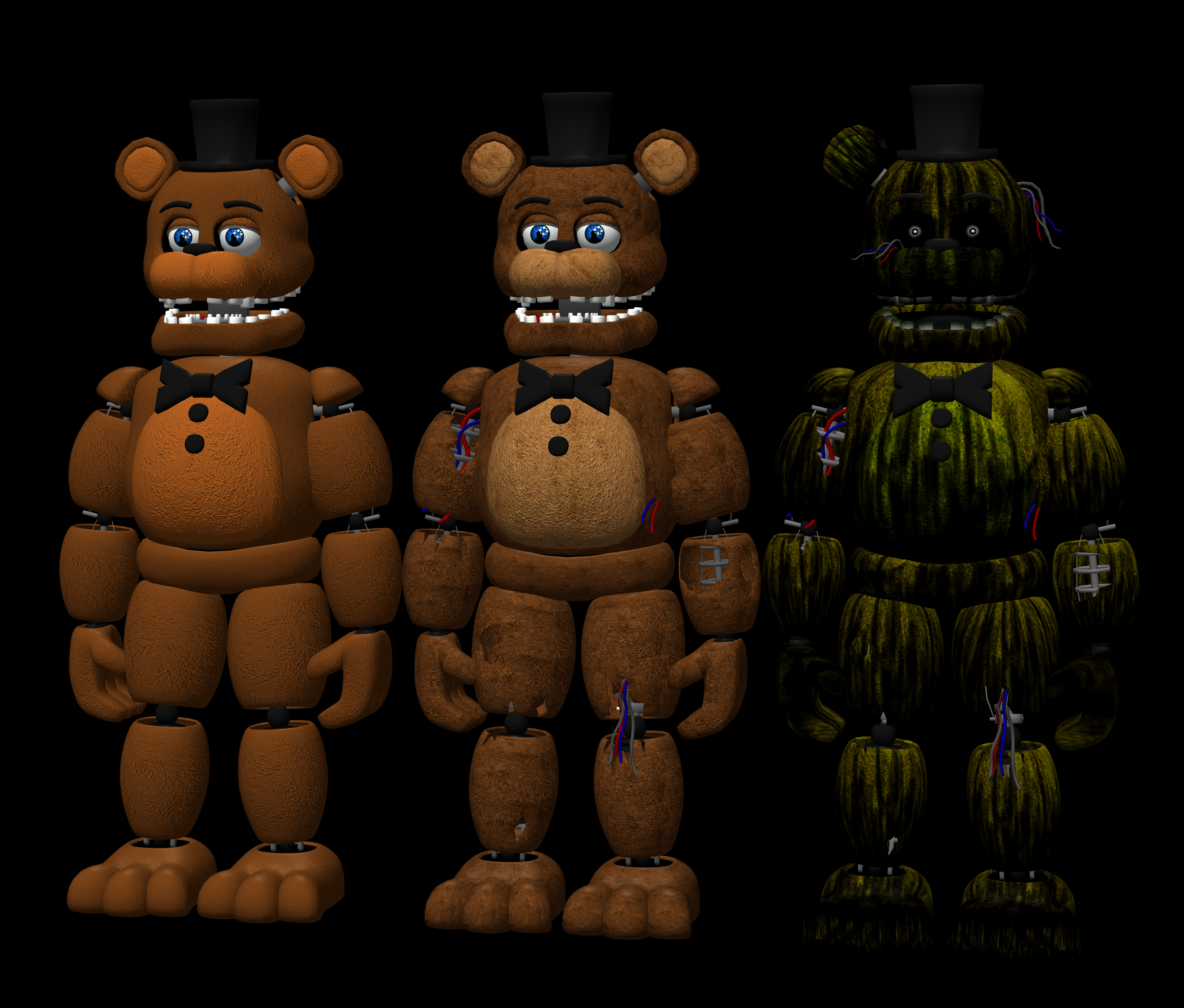 Fnaf 2-3 Freddy Pack By RealMoonlight On DeviantArt