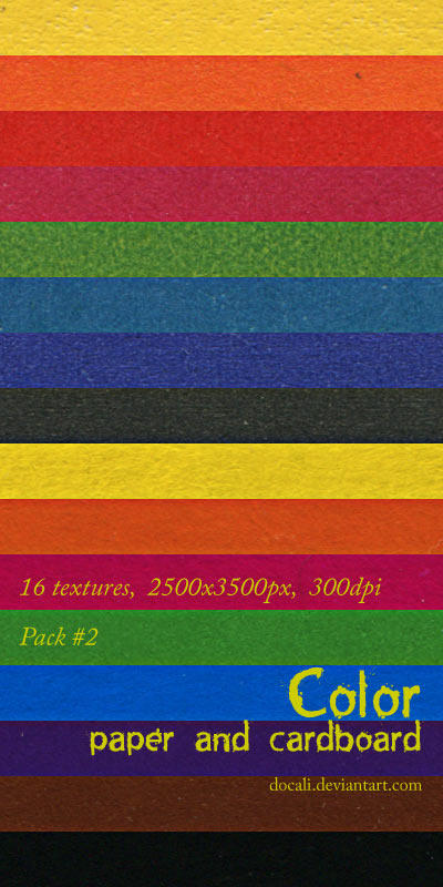 Color Paper + Cardboard Pack02 by Docali