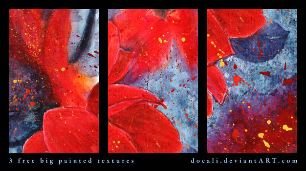3 Free Big Painted Textures